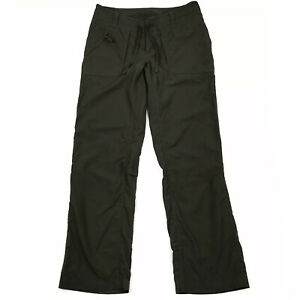 The North Face Women's Olive Green Nylon Cargo Roll Up Hiking Lightweight Pant 6