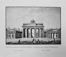 Spanska portón Berlín plaza de parís aquatinta porte de brandebourg tras Calau