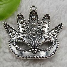 free ship 14 pcs tibet silver mask charms 50x48mm #4364