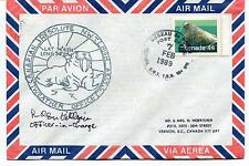 1989 Weather Office RESOLUTE Canada Bureau Polar Antarctic Cover SIGNED