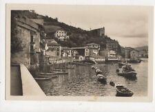 Pasajes Vista Parcial y Ermita de Sta Ana Spain Vintage RP Postcard 894a
