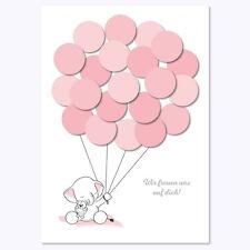 Babyparty, Baby Shower, Deko, Andenken, Elefant, mädchen, rosa von Mia-Felice