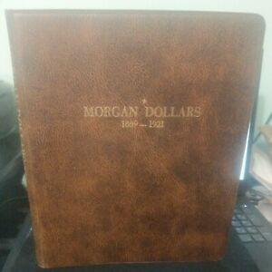 MORGAN DOLLARS Used DISPLAY ALBUM 1889-1921 by HARCO COINMASTER 4-Pages CLEAN1