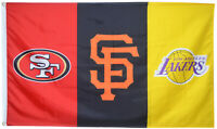 San Francisco 49ers & Giants & Los Angeles Lakers Flag 3x5ft Banner