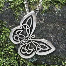 """Celtic Butterfly Pendant with """"Spread your wings"""" Affirmation on the back"""