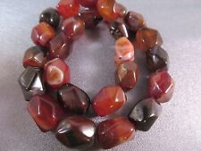 Carnelian Faceted Nuggets Beads 25pcs