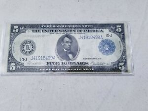 1914 $5 Mid Grade Federal Reserve Note