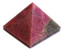 Reiki ENERGÍA CARGADO collar de piedra de curación de cristal Rhodonite Pirámide