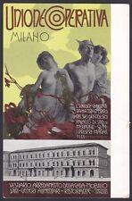 PALANTI GIUSEPPE 01 Illustratore UNIONE COOPERATIVA MILANO Cartolina