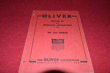 Oliver White Tractor 355 Mower Operator's Manual BVPA