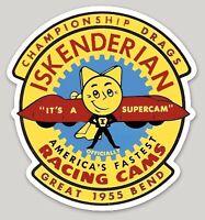 """ISKENDERIAN SUPERCAM DRAG RACING VINTAGE 4.63"""" x 5.00"""" DECAL AMERICANA RRP £9"""