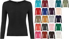 T-shirt, maglie e camicie da donna a manica lunga basici viscosi