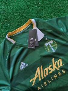 Adidas Portland Timbers FC Official Green MLS Jersey MSRP $120 [GE5943] - LARGE