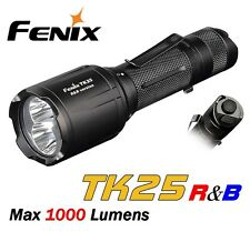 New Fenix TK25 R&B Cree XP-G2 S3 1000 Lumens LED Flashlight ( White, Red, Blue )