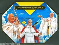 SOLOMON ISLANDS 2014 CANONIZATION OF POPE JOHN PAUL II  S/S  MINT NH