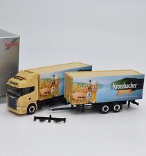 "Herpa Exclusiv H0 Scania Hängerzug "" Krombacher Weizen "", OVP, 1:87, G7/25"