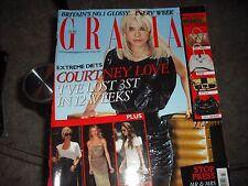 RARE Grazia Magazine July 9, 2007 Courtney Love Cover