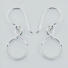Infinity with Pearl Earrings Sterling Silver 925 Best Deal Jewelry USA Seller