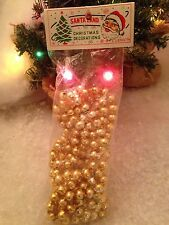 Vtg Gold Bead Strand Garland New Old Stock Unopened Xmas Santa Land Unbreakable