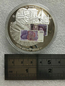 ADAM SMITH £20 NOTE Coin PROOF incl clear pouch &  COA