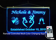 Personalized Wedding Sign, Browning Buck & Doe - Wedding decorations,  gift