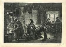 CRADLE BERCEAU TYPICAL HOME SWEDEN INTÉRIEUR TYPIQUE SUEDE FAMILLE FAMILY 1873