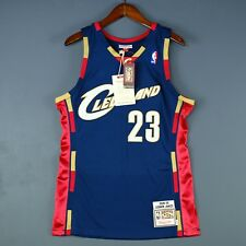 100% Authentic Lebron James Mitchell Ness Cavaliers Jersey Mens Size 48 XL Mens