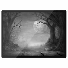 Plastic Placemat A3 BW - Spooky Halloween Forest  #36206