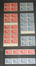 Scandinavia 1956 Swans Bird common design set in blocks (Sweeden coil strips) Nh