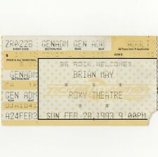 Brian May Concert Ticket Stub Atlanta 2/28/93 Roxy Queen Back To The Light Rare