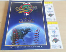 Toronto Blue Jays Official World Series Program (SC) & Ticket Stubs Gm 3,5 1992