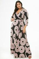 Forever 21 Plus Size Medallion Print Maxi Dress 1X/2X/3X