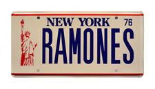 The Ramones | Punk Rock RAMONES | Metal Stamped New York Replica License Plate