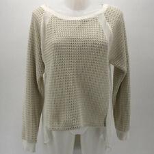 Sanctuary Ivory Knit Long Sleeve Sweater Size Large