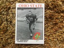 Ohio State University Football Card Vic Janowicz Mint OSU