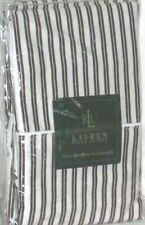 Ralph Lauren Pillowcase Set Metropolitan Place Standard Brown White Stripe New