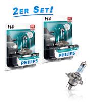Philips H4 Lampen X-treme Vision +130% mehr Licht 2St. Scheinwerfer-Beleuchtung