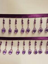 beautiful Cadbury purple beaded braid trimming