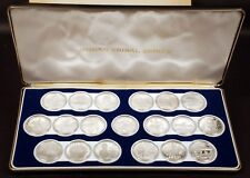 19 Coin Set of Indian Tribal Nation Series .999 Fine Silver Medals w/Box