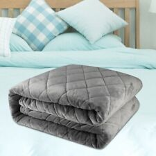 """60"""" x 80"""" Soft Weighted Blanket Adult Quilt For Anxiety Stress Insomnia Queen"""