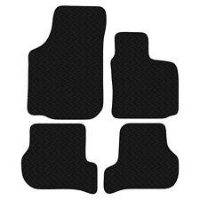 Seat Leon MK2 Facelift 2009 - 13 Black Floor Rubber Tailored Car Mat 3mm 4pc Set