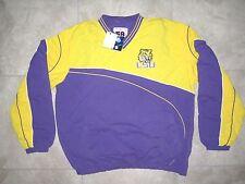 NEW NOS NWT LSU Tigers Logo Yellow Pullover Sweater Sweatshirt Windbreaker XL