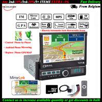 7''1DIN GPS Car MP5+8gTF Reverse FM/AUX DVR IN Navigation Radio Bluetooth Stereo
