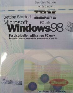 Microsoft Windows 98 Genuine OEM Getting Started IBM SEALED NOS