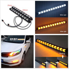 2 X Waterproof Dual Color LED Flexible DRL Switchback Flowing Turn Signal Lights