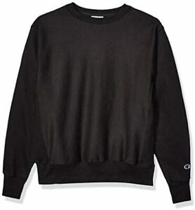 Champion Men's Reverse Weave Sweatshirt Black - Gf70 Large