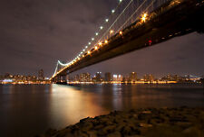 Poster de New-York la nuit - Couleur ou noir et blanc