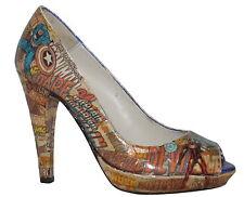 Comic Book Inspired Decoupaged Shoes Size UK 2 EU 35 Never Worn