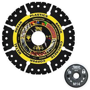 SabreCut 115-125mm Vacuum Brazed Multi Material Cutting Discs for Grinders