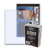 100 BCW Brand 3.5 x 5 Topload Card Storage Holders - 4 packs, 25 per pack